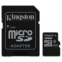 Kingston Canvas Select 32GB microSDHC Memory Card with SD Adapter