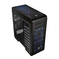 Thermaltake Core V71 Blue LED Tempered Glass EATX Full Tower Computer Case - Black