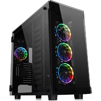 Thermaltake View 91 RGB Tempered Glass XL-ATX Super Tower Computer Case - Black
