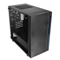 Thermaltake Versa H18 Tempered Glass mATX Mini-Tower Computer Case - Black