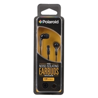 Polaroid PH783 Noise Isolating Earbuds w/ In-line Mic - Black