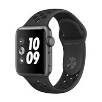 Apple Watch Series 3 Nike+ GPS 38mm Space Gray Aluminum Smartwatch - Anthracite/Black Sport Band