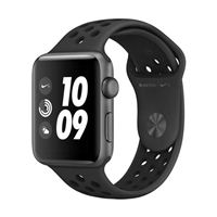Apple Watch Series 3 Nike+ GPS 42mm Space Gray Aluminum Smartwatch - Anthracite/Black Sport Band