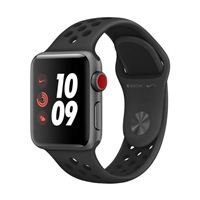 Apple Watch Series 3 Nike+ GPS+Cellular 38mm Space Gray Aluminum Smartwatch - Anthracite/Black Sport Band