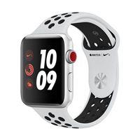 Apple Watch Series 3 Nike+ GPS+Cellular 42mm Silver Aluminum Smartwatch - Platinum/Black Sport Band