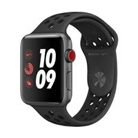 Apple Watch Series 3 Nike+ GPS+Cellular 42mm Space Gray Aluminum Smartwatch - Anthracite/Black Sport Band