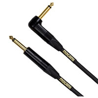 "Mogami 1/4"" Male to 1/4"" Male Right Angle Instrument Cable w/ Gold Connectors 18 ft. - Black"