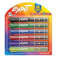 Expo Ink Indicator Dry Erase Chisel Markers 6 Count