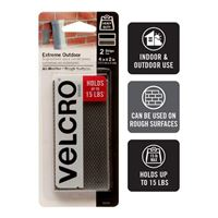 "Velcro Industrial Strength 2 Pack 4"" x 2"" - Clear"