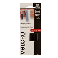 """Velcro Extreme Outdoor Strips 10 Pack 4"""" x 1"""" - Black"""