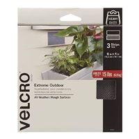"""Velcro Extreme Outdoor 3 Strips 6"""" x 4"""" - Titanium Gray"""