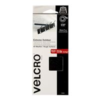 """Velcro Extreme Outdoor 1 Roll 4' x 1"""" - Black"""