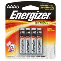 Energizer Max AAA Battery 8 Pack