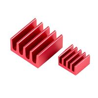 Leo Sales Ltd. Low Profile Aluminum Heat Sink for Raspberry Pi - 2 Piece