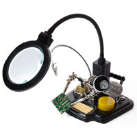 Velleman Soldering Center with Goose Neck Magnifying Glass