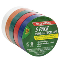 Shurtape Professional Color Coding Electrical Tape .5 in. x 20 ft. - Assorted Colors