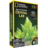 Discover with Dr. Cool National Geographic Glow In Dark Crystal Growing Lab - Green