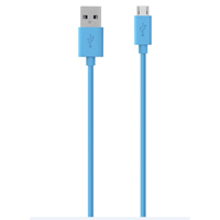 Belkin Micro-USB (Type-B) Male to USB 2.0 (Type-A) Male Sync/Charge Cable 10 ft. - Blue
