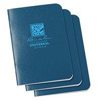 Rite In The Rain Blue Stapled Mini Waterproof Notebook - Pack 3