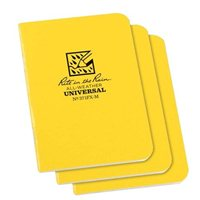 "Rite In The Rain Side Spiral 4 7/8"" x 7"" Waterproof Paper Notebook - Yellow"