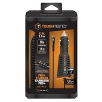Tough Tested Pro Charger with Quick Charge 3 and Type-C Coiled Cord