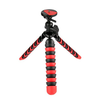 "Vivitar 12"" Large Rubberized Spider Tripod - Red/ Black"