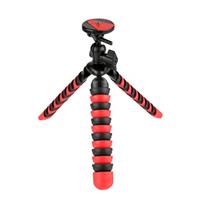 "Vivitar 12"" Large Rubberized Spider Tripod - Red/ Black"