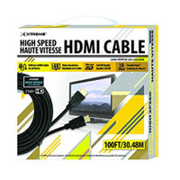 Xtreme Cables HDMI Male to HDMI Male High Speed 4K 3D Cable 100 ft. - Black