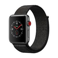 Apple Watch Series 3 GPS+Cellular 42mm Space Gray Aluminum Smartwatch - Black Sport Loop Band