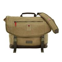 "Swiss Gear Corffe Messenger Bag w/ Tablet Pocket Fits Screens up to 16"" - Brown"