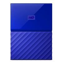 "Western Digital My Passport 2TB USB 3.0 2.5"" Portable External Hard Drive - Blue"