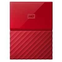 "Western Digital My Passport 2TB USB 3.0 2.5"" Portable External Hard Drive - Red"