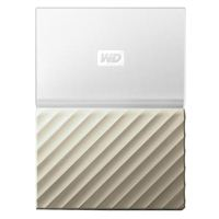 "WD My Passport Ultra 2TB USB 3.0 2.5"" Portable External Hard Drive - White/Gold"