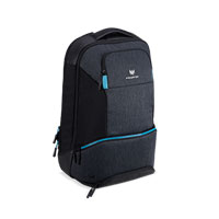 "Acer Predator Hybrid Backpack Fits Screens up to 15.6"" - Gray w/ Teal Accents"