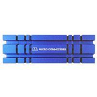 Micro Connectors M.2 2280 SSD Heat Sink Kit - Blue