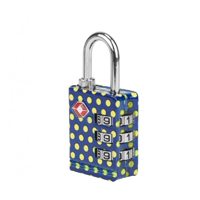 Travelon TSA Accepted Luggage Lock - Yellow Polka Dot