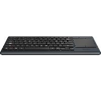 Logitech K830 Wireless Keyboard with Touchpad - Black (Refurbished)