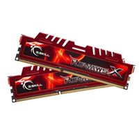 G.Skill Ripjaws X 8GB 2 x 4GB DDR3-1600 PC3-12800 CL9 Dual Channel Desktop Memory Kit - Red