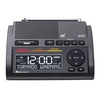 Midland WR400 Deluxe Weather Alert Radio w/ AM-FM Clock Radio Dual Alarm - Gray