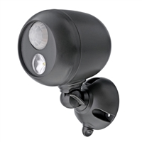 Mr. Beams Wireless LED Spotlight with Motion Sensor and Photocell - Brown