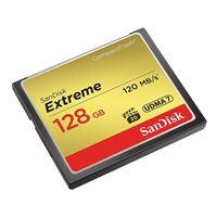 SanDisk 128GB Extreme CompactFlash VPG-20 / UDMA 7 Memory Card