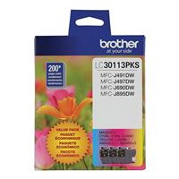Brother LC3011 Color Ink Cartridge 3-Pack