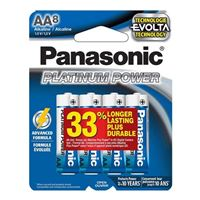 Panasonic Energy of America Platinum Power AA Alkaline Batteries - 8 Pack