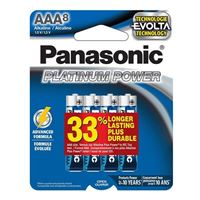 Panasonic Energy of America Platinum Power AAA Batteries - 8 Pack