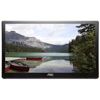 "AOC E1759FWU-B 17.3"" HD+ 60Hz USB 3.0 Portable LED Monitor Refurbished"