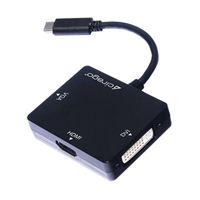 Cirago USB 3.1 Gen 2 (Type-C) Male to HDMI / DVI / VGA Display Adapter