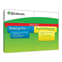 Intuit QuickBooks Desktop Pro with Enhanced Payroll 2019 - 1 Year