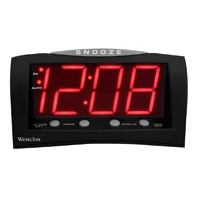 "Westclox 1.8"" Large LED Display Alarm Clock w/ Battery Back-up - Black"