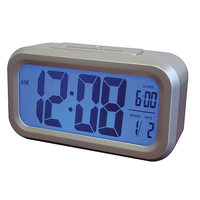 Westclox Large LCD Display Alarm Clock w/ Automatic Backlight