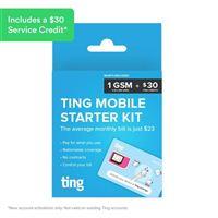 Ting Tri-cut Mini/Micro/Nano Sim Card - $30 Credit